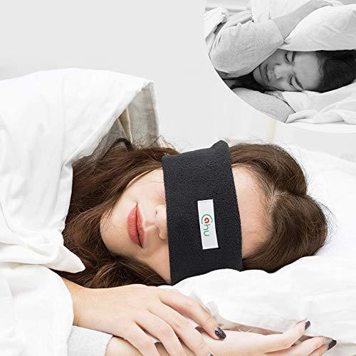 Schlafkopfhörer Augenmaske, perfekt zum Schlafen, Anti-Schnarchen und die besten Kopfhörer, Schlaf-Design, Ideen für Sport, Flugreisen, Meditation und Entspannung, Schwarz