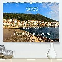 Jakobsweg - Camino Portugues (Premium, hochwertiger DIN A2 Wandkalender 2022, Kunstdruck in Hochglanz): Pilgerweg entlang der portugiesischen Kueste von Porto nach Santiago de Compostela (Monatskalender, 14 Seiten )