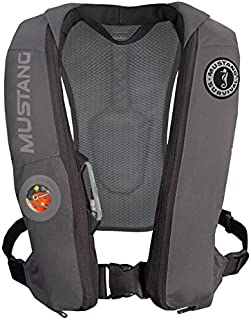 Mustang Survival Corp Elite Inflatable PFD (Auto Hydrostatic), Gray