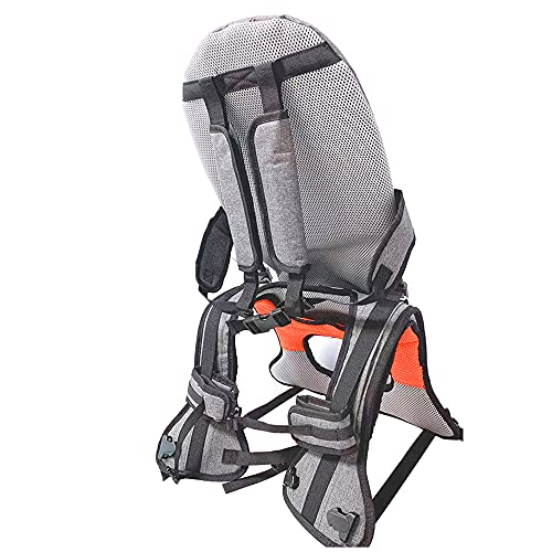 Child Shoulder Carrier Baby Saddle Hiking Backpack Foldable Shoulder Saddle Ankle Straps Hands Free for Ergonomic Seat Holds up to 45 Pound