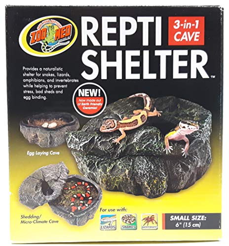 Zoo Med RC-30 Repti Shelter 3 in 1 Höhle für Reptilien und Amphibien SM