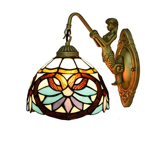DALUXE Tiffany Lámpara de 8 Pulgadas Tiffany Lámpara de Pared Manchada Sala de Estar Salón Salón Bar Bar Club Hallowal Balcony Love