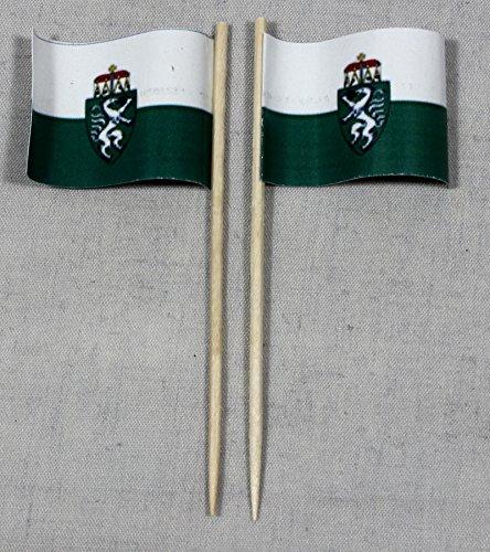 Buddel-Bini Party-Picker Flagge Steiermark Österreich Papierfähnchen in Spitzenqualität 50 Stück Beutel