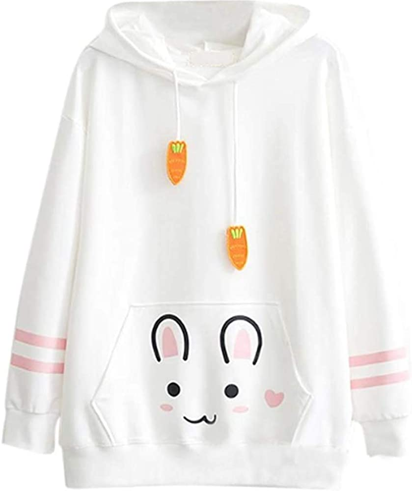 Cosplay Ladies Anime Bunny Emo Rabbit Hoodie Ears Costume Raccoo