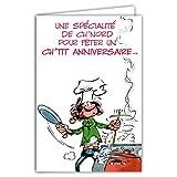Afie Carte régionnale 59 NORD Gaston Lagaffe Bon Anniversaire ; Cuisine ; Spécialités ; Recette ; Maroilles ; Bière ;
