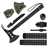 LIANTRAL Portable Stainless Survival Axe, Backpacking Folding Camping Axe Multitool Hatchet Shovel with Sheath, Survival Gear Kit for Hunting,Hiking and Emergency