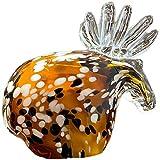 DFGDFG Mano soplado Vidrio Reno Ciervos Ciervos Hechos a Mano Salvaje Animal Papel de Vidrio Escultura Mesa Adorno decoración del hogar Regalo
