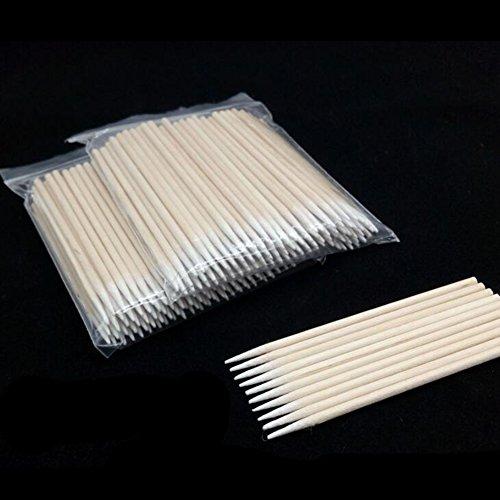 Ensemble de cotons-tiges pointus jetables 10 cm - Paquet de 100
