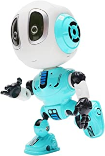 yeesport Talking Robot Toy LED Induction Metal Robot Toy Mini Talking Robot Mini Robot Preschool Toy for Children Talking ...