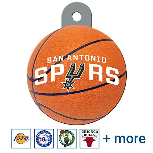 GoTags Personalized Engraved NBA Dog Tags, Round Shape Pet ID Tags