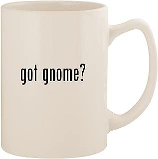 got gnome? - White 14oz Ceramic Statesman Coffee Mug Cup