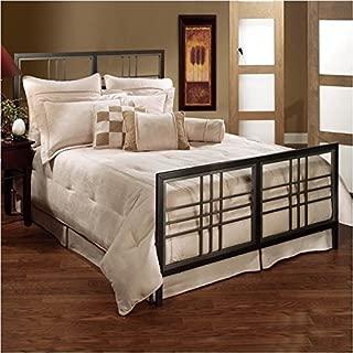 Hillsdale Furniture Tiburon Bed Set with Rails, King, Magnesium Pewter
