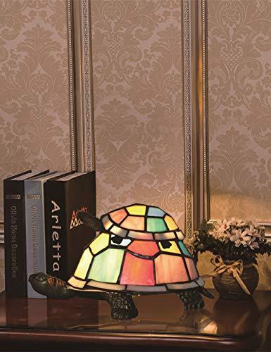Tiffany Stil europäischen kreative bunte Mutter & Kind Schildkröte Schildkröte Hahnrei Tischlampe Kinder Geschenk Lampe Nachtlicht