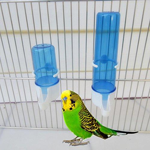 Yunso Automatische Vogel Einzug Nahrung Wasserspeicher Kunststoff Papageienkäfig Pet Trinken Container (L)