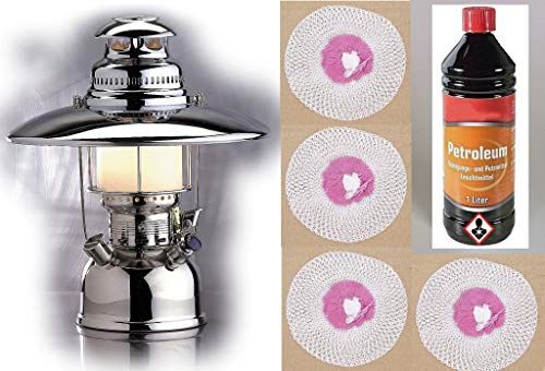 Petromax Lampe 500HK mit Zubehör Terassenlampe Laterne Messinglampe