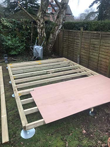 SHED BASE SYSTEM- QUICK JACK FOR SOFT SURFACES- BASE SUITABLE FOR- 8ftx7ft - 8ftx8ft - 10ftx6ft - 8ftx10ft - KIT 3