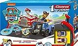 Carrera First Paw Patrol - On the Track – Carrerabahn für Kleinkinder – Elektrische Autorennbahn mit Serien-Figuren in Spielzeugautos – Für Kinder ab 3 Jahren