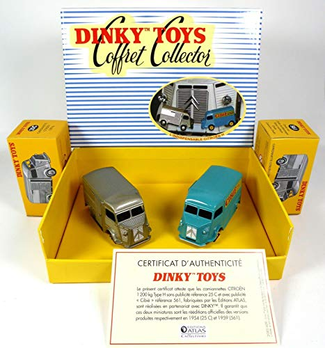 OPO 10 - Atlas Dinky Toys 1/43 - Gift Box of 2 Citroen HY Type H : Cibié + Gris 25C/561