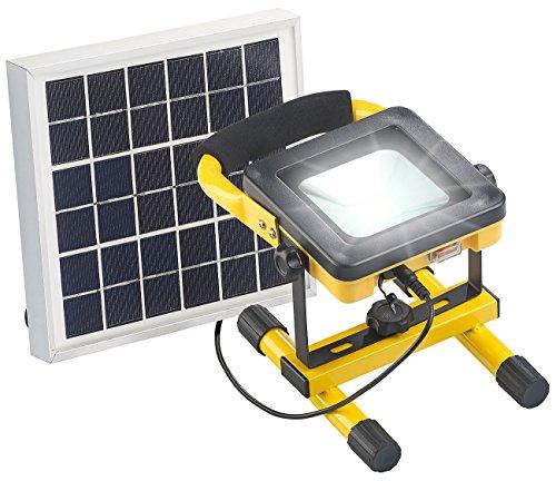 AGT Akku Scheinwerfer: Solar-LED-Baustrahler mit Akku, 4,5-Watt-Solarpanel, 10 Watt, 450 lm (Solar Light)
