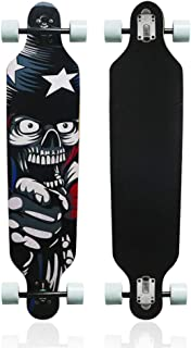 MammyGol 42 Inch Maple Longboard Skateboard Drop Through Complete Skateboard Cruiser for Cruising, Carving, Free-Style and Downhill