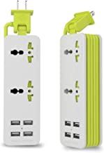 UPWADE Outlet Travel Power Strip Surge Protector with 4 Smart USB Charging Ports (Total 5V 4.2A Output) and 5ft Cord,Mult...