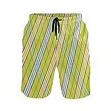 Sawhonn Cuadros Escoceses De Cuadros Vichy Bañador para Hombre Pantalones Cortos Bañadores Shorts para Hombres Natacion Piscina Surf Playa
