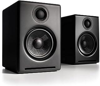 Audioengine A2+ Bezprzewodowy Głośnik Bluetooth   Aktywne Głośniki Komputerowe 60 W   Wbudowany 24-bitowy Przetwornik Cyfr...