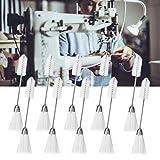 Cikonielf - 10 pinceles para máquina de coser y coser, cepillo para máquina de coser, cepillo de limpieza, nailon, acero inoxidable