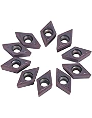 10 Piezas de Insertos de Carburo, Herramienta de Torneado Torno CNC Puntas de Carburo Cortador de Cuchillas con Caja Para Materiales Blandos