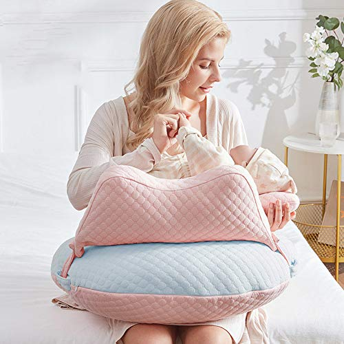 WYXunPlanet Nursing Pillow,Breastfeeding Pillow,Nursing Pillow Breastfeeding,Propping Baby, Tummy Time,Sitting Support,Adjustable Width fit Around Your Waist and Relieve Back Pain(Blue)