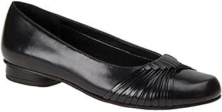 Womens Marlene Leather Closed Toe Loafers, Black, Size 9.5