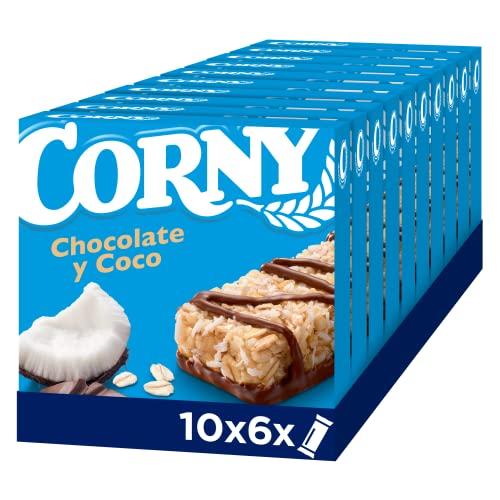 Corny Barritas de Chocolate y coco. 10 estuches con 6 barritas 10x(6x25g)