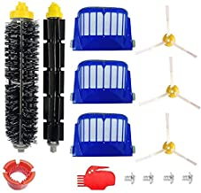 DLD Accessory for Irobot Roomba 600 610 620 650 Series Vacuum Cleaner Replacement Part Kit - Includes 3 Pack Filter, Side Brush, and 1 Pack Bristle Brush
