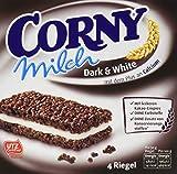 CORNY Milch Dark & White, Milchsandwich, 120g Schachtel mit 4 Riegeln -