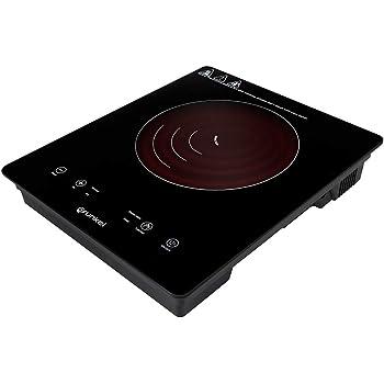 Grunkel - PIN-2000 - Placa de inducción portátil con Controles táctiles y 8 Niveles de Potencia. Autoapagado de Seguridad y Bloqueo Infantil - 2000 W - Negro: Amazon.es: Hogar
