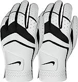 Nike Men's Dura Feel Golf Glove (2-Pack) (White), Medium-Large, Left Hand