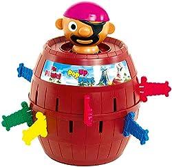 """TOMY Kinderspiel """"Pop Up Pirate"""", Hochwertiges Aktionsspiel für die Familie, Piratenspiel zur Verfeinerung der Geschicklichkeit Ihres Kindes, Gesellschaftsspiel ab 4 Jahren, Pop up Spiel"""