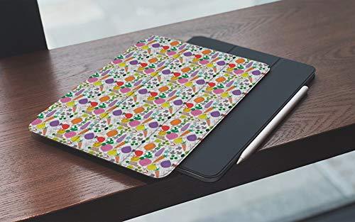 Funda para iPad 10.2 Pulgadas,2019/2020 Modelo, 7ª / 8ª generación,Vegetal Vegetariano Pintura Infantil Pimiento Color Berenjena y Zanahoria Diseño, Smart Leather Stand Cover with Auto Wake/Sleep