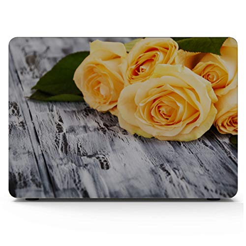 13 Macbook Air Case Bright Yellow Rose Banquet Macbook Pro 15 Cover Hard Shell Mac Air 11'/13' Pro 13'/15'/16' With Notebook Sleeve Bag For Macbook 2008-2020 Version