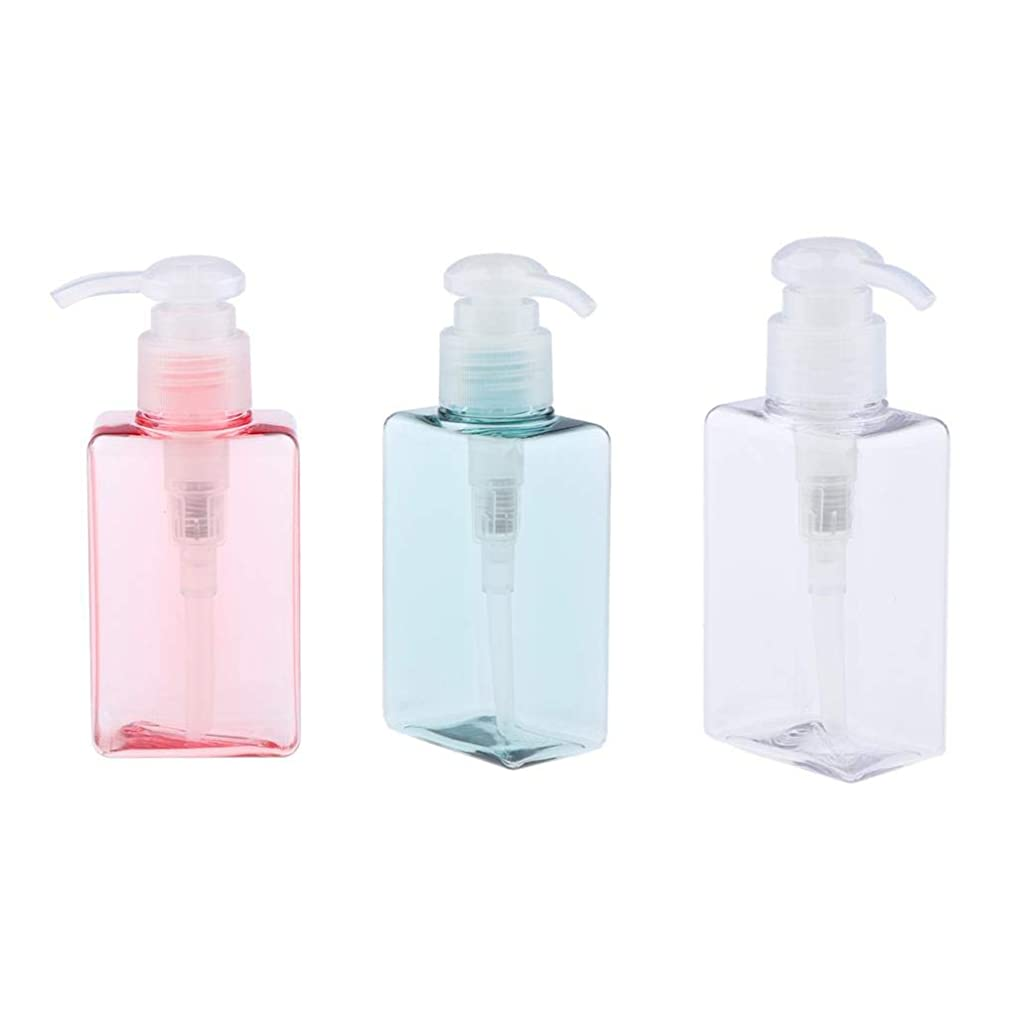 のりジャケット疲労gazechimp 3個 ポンプボトル エアレスポンプ 空の化粧ボトル 漏れ防止