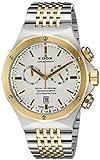 Edox 10108 357J AID Delfin Display analogico al quarzo svizzero due toni orologio