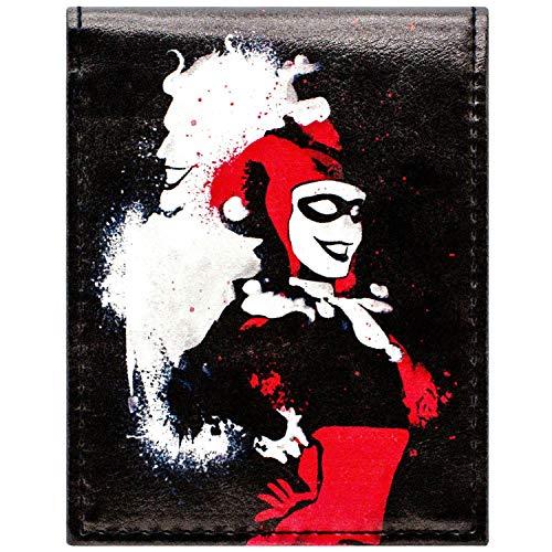 Cartera de DC Suicide Squad Estilo de la Pintada Harley Quinn Negro