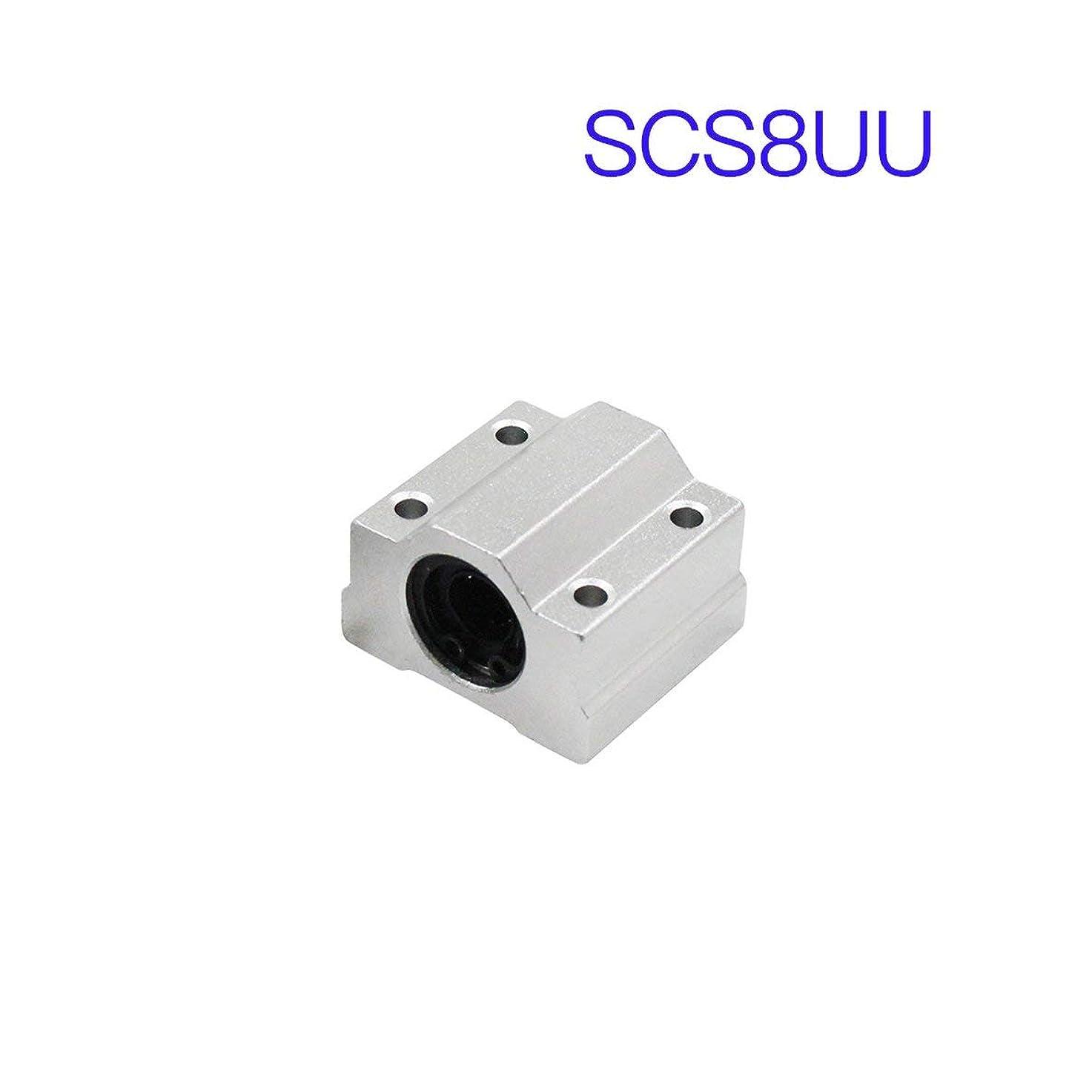 ナイロン重さ鳴り響く3Dプリンターシャフトロッド印刷機部品リニアモーションボールベアリングブロックスライドブッシュCNCルーター用Birdlantern SCS8LUU