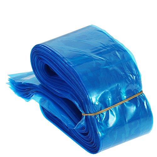 zroven Anself 100Pcs Clip Cord Sleeves Housses jetables pour machine à tatouer en plastique bleu