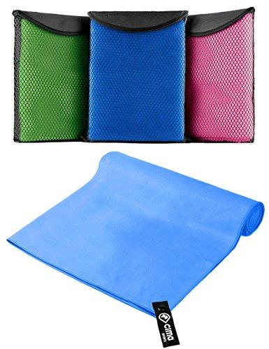 Mikrofaser Handtuch in Premium Qualität 140x70cm perfekter Begleiter auf Reisen, als Sport-Handtuch für Fitness und Yoga | leicht, kompakt, saugstark inkl GRATIS Transport- und Aufbewarungstasche