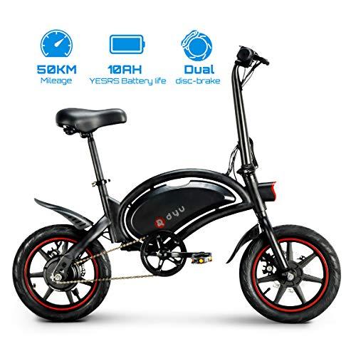 LENTIA Vélo Électrique Pliant vélo de Ville électrique 6 Ah Batterie Lithium Rechargeable 50 Kilométrage 14' City E-Bike Adulte Pliant Vitesse jusqu'à 25 km/h CE & GSG D3F