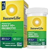 Renew Life Adult Probiotic - Ultimate Flora Adult 50+ Probiotic Supplement - Shelf Stable, Gluten, Dairy & Soy Free - 30 Billion CFU - 90 Vegetarian Capsules