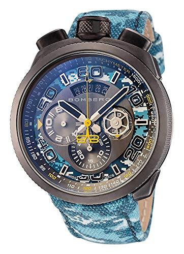 Bomberg Herren-Armbanduhr Bolt-68 Chronograph Datum Analog Quarz BS45CHPGM.035.3