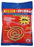 IMPEX EUROPA Killer Spiral Bengala Insecticida para Insectos Voladores, Especial Mosquitos Tigre, Tropical, Uso Exterior - 10 Espirales + Soporte
