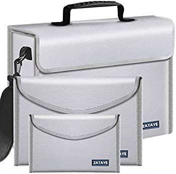 3-Pieces Zataye Fireproof Bags and Document Holders